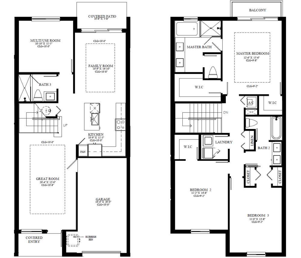 The Chloe – Furnished Model Floorplan